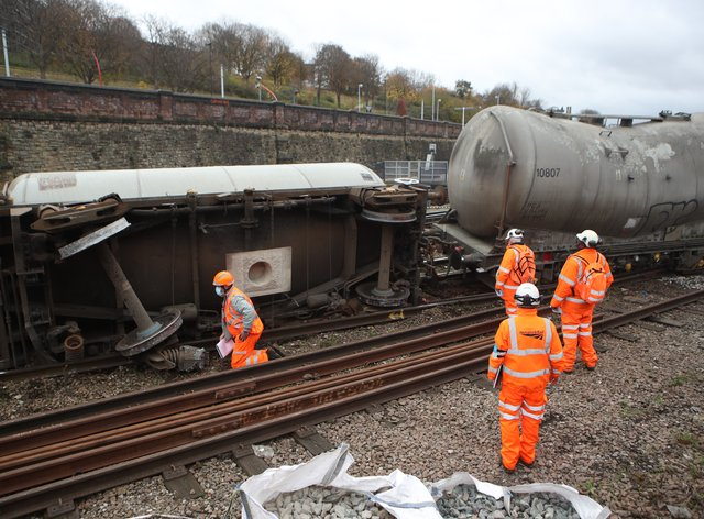 Passenger rail services will be disrupted for several days after a freight train derailed at Sheffield station, Network Rail said (Danny Lawson/PA)