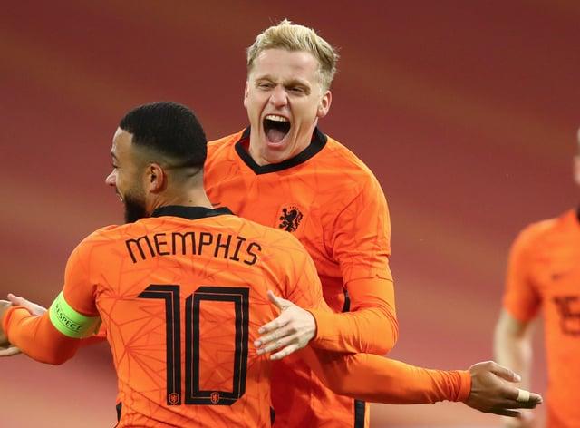 Donny van de Beek struck for Holland