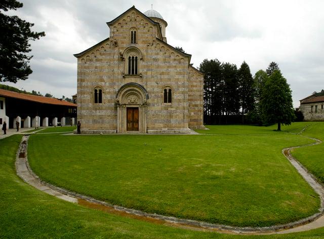 The Serb Orthodox Monastery of Visoki Decani in western Kosovo (Visar Kryeziu/AP)