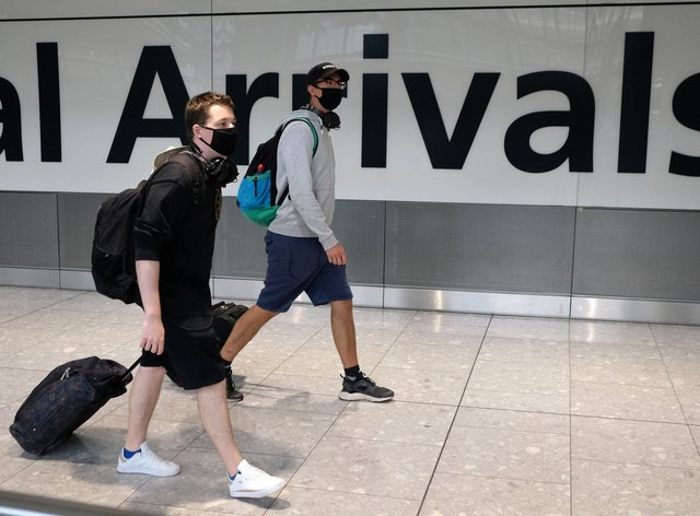 Most of Greece has been removed from the Government's list of travel corridors, Transport Secretary Grant Shapps has announced (Andrew Matthews/PA)