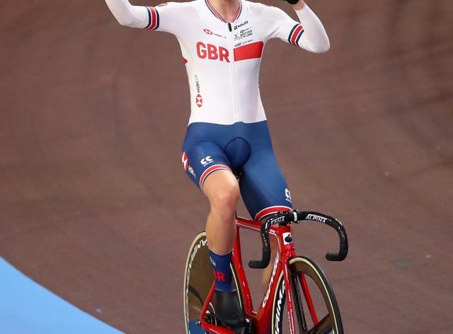 Elinor Barker won gold in the elimination race