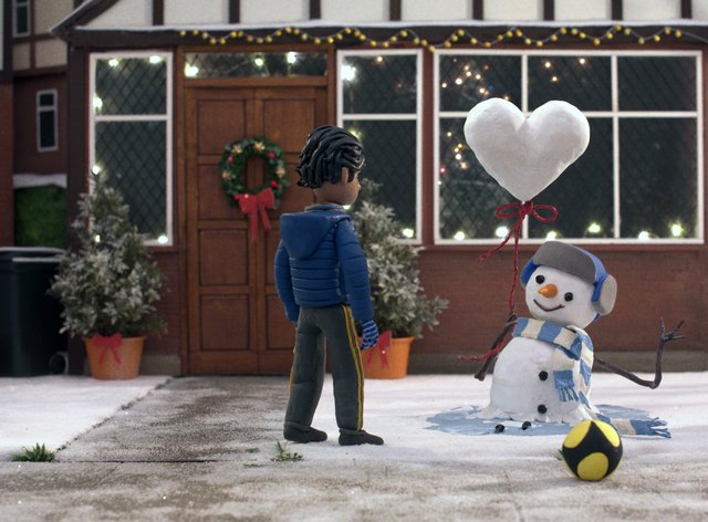 A still from the 2020 John Lewis Christmas advert