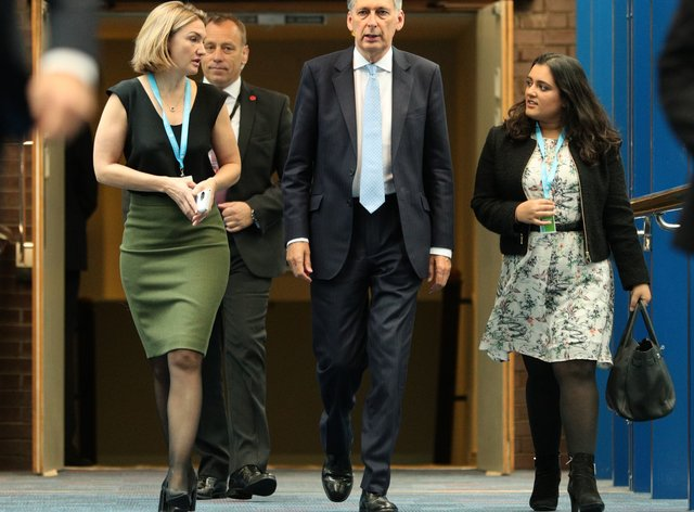 Sonia Khan with then-chancellor Philip Hammond