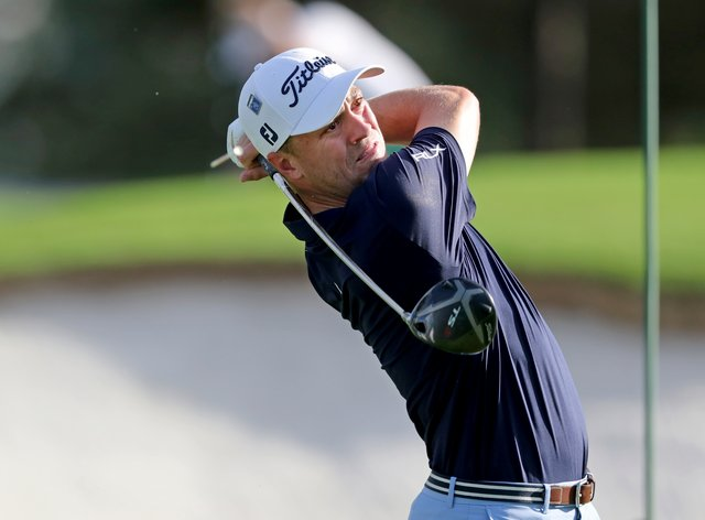 Justin Thomas was among those chasing clubhouse leader Paul Casey on day two of the Masters