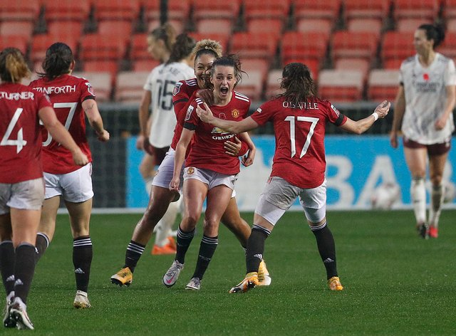 <p>Manchester United currently sit at the top of the WSL table</p>