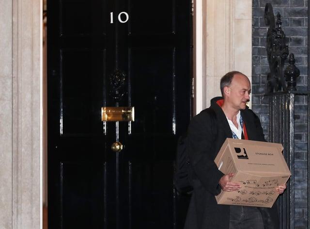 <p>Prime Minister Boris Johnson's top aide Dominic Cummings leaves Downing Street</p>