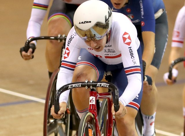 Neah Evans won the women's individual pursuit in Plovdiv on Friday (Jane Barlow/PA).