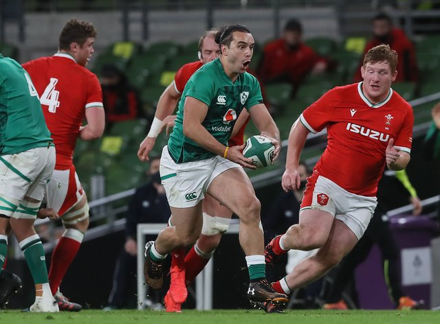 Ireland winger James Lowe had a debut to remember