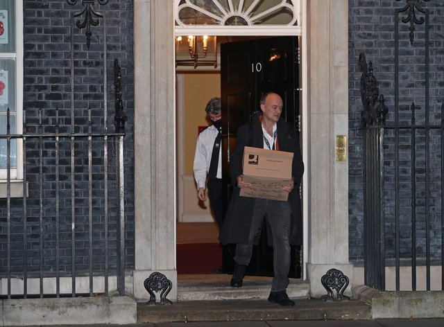 Dominic Cummings leaves 10 Downing Street