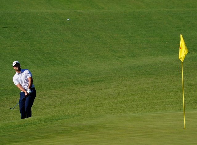 Jon Rahm was part of a five-way tie for the halfway lead in the Masters