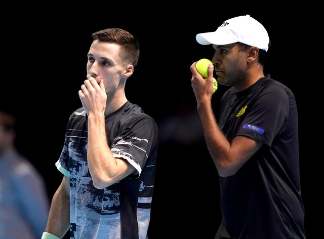 Joe Salisbury (left) and Rajeev Ram will play their first match at The O2 on Sunday