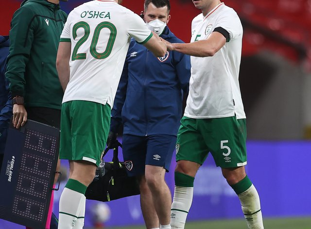 Defender Dara O'Shea watched the Republic of Ireland from the stands at Euro 2016