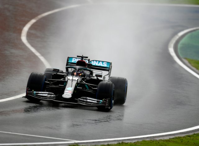 <p>Hamilton claimed his 10th win from 14 rounds to match Michael Schumacher's haul</p>