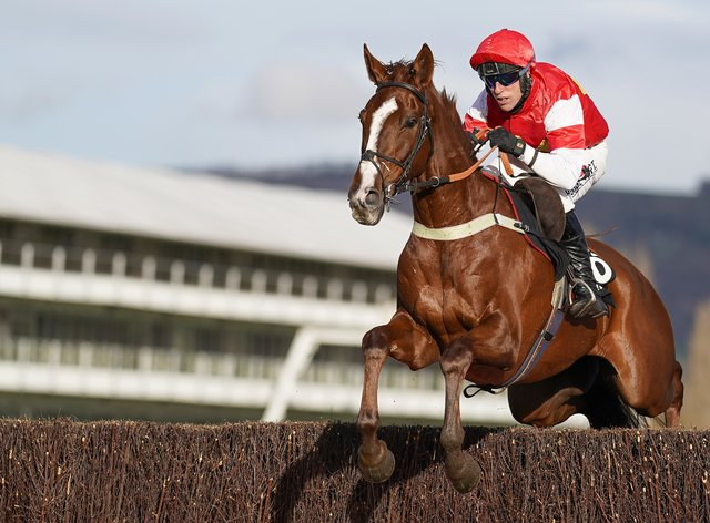 The Big Breakaway on his way to victory at Cheltenham