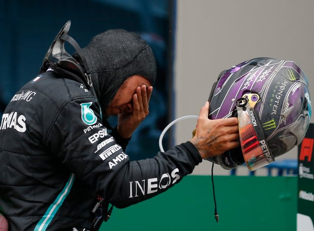 An emotional Lewis Hamilton clinched his seventh world title in Turkey