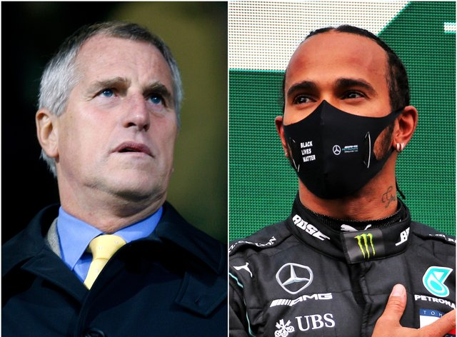 Ray Clemence and Lewis Hamilton