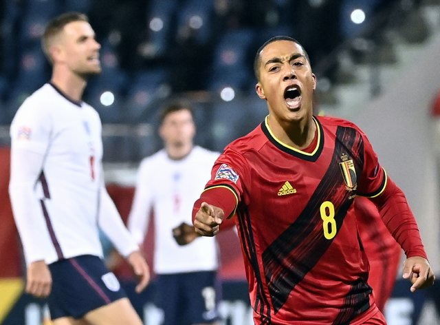 Youri Tielemans opened the scoring for Belgium