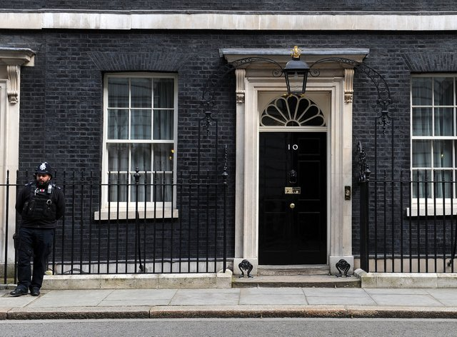 Downing Street stock