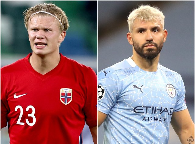 <p>Erling Haaland and Sergio Aguero are among those in the news this morning</p>