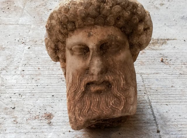 A head of the ancient god Hermes