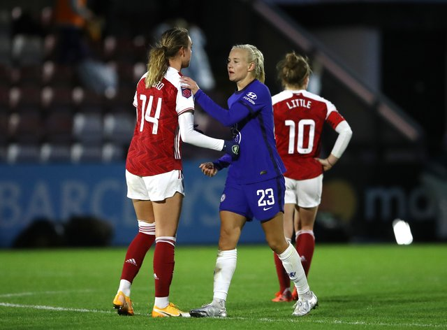 Pernille Harder has shared disappointment at the club's performance yesterday
