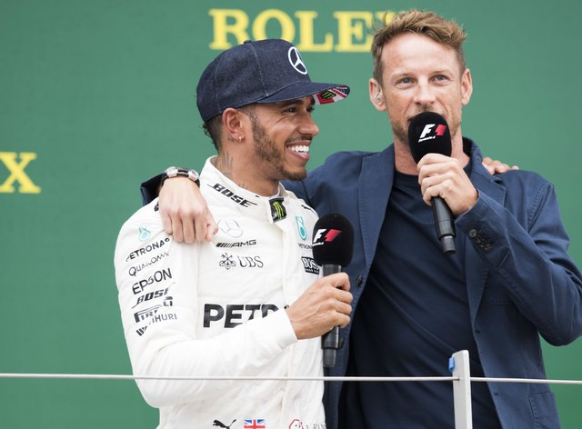 Hamilton and Button were teammates for three seasons between 2010 and 2012