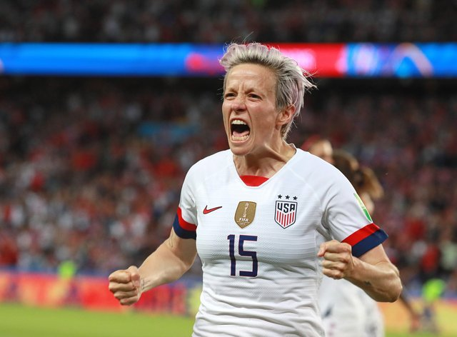 Rapinoe became a household name at the World Cup last summer