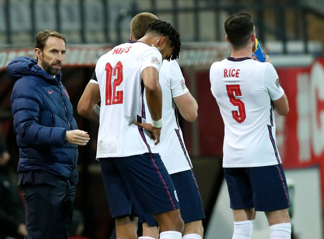 England fell to defeat in Belgium on Sunday night