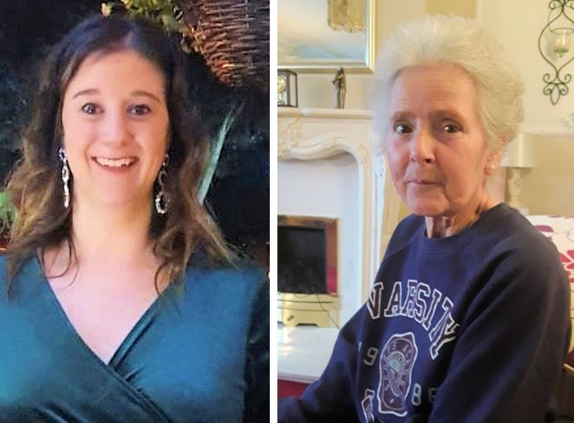 <p>Amy Appleton, 32, and Sandy Seagrave, 76, who were both killed in a quiet street in Crawley Down in December 2019&nbsp;</p>