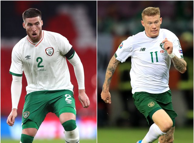 Matt Doherty (left) and James McClean (right) are out of the Republic of Ireland's Nations League clash with Bulgaria