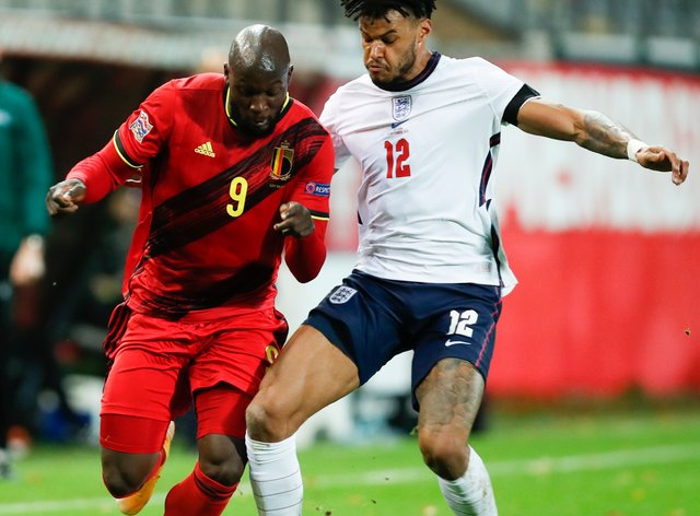 Tyrone Mings played in England's battling defeat to Belgium