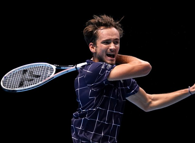Daniil Medvedev claimed his first victory at The O2
