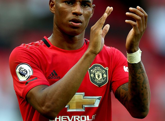 <p>Rashford has been praised for his work off the pitch during the pandemic</p>