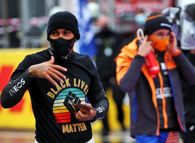 Lewis Hamilton continues to fight against racism