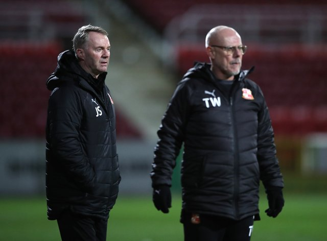 John Sheridan, left, and his assistant Tommy Wright