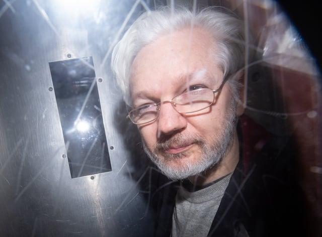 Julian Assange in lockdown in prison
