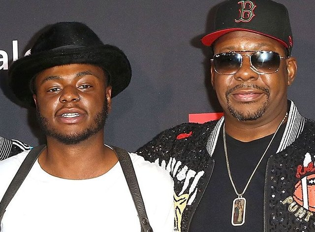<p>Bobby Brown Jr (left) pictured with his father Bobby Brown&nbsp;</p>