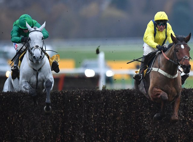 Lostintranslation (right) and Bristol De Mai will renew rivalry in the Betfair Chase at Haydock