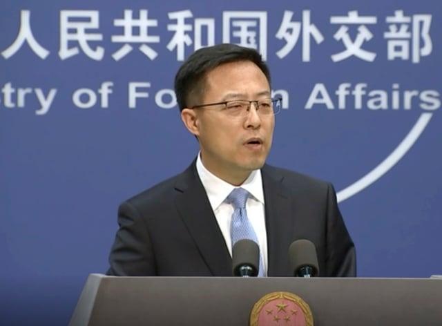 China's Foreign Ministry spokesman Zhao Lijian