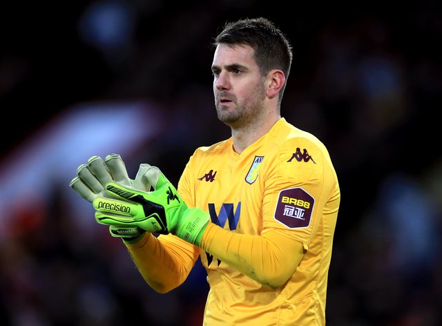Aston Villa goalkeeper Tom Heaton is back in daily training after a serious knee injury