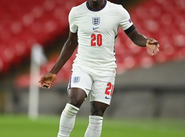Bukayo Saka impressed for England during the November international break