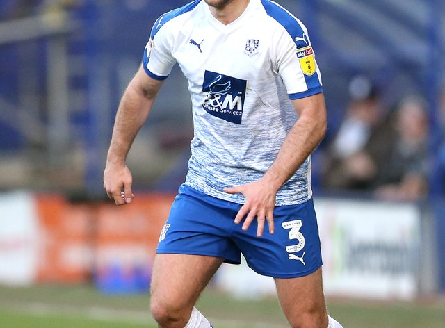 Tranmere's Liam Ridehalgh will not feature this weekend