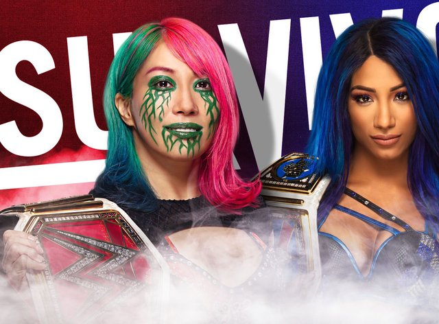 Asuka and Sasha Banks face off this Sunday as they both put their titles on the line