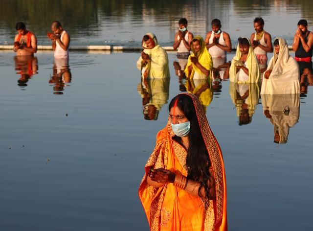 Virus Outbreak India Hindu Festival