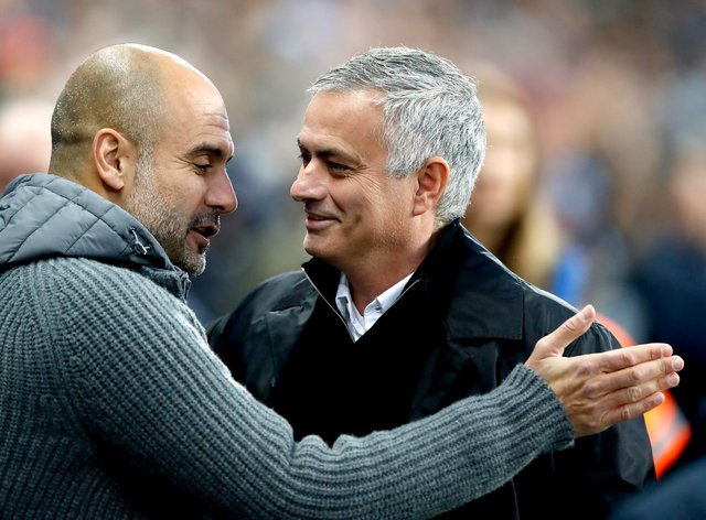 Long-time rivals Pep Guardiola and Jose Mourinho will face off once again on Saturday evening