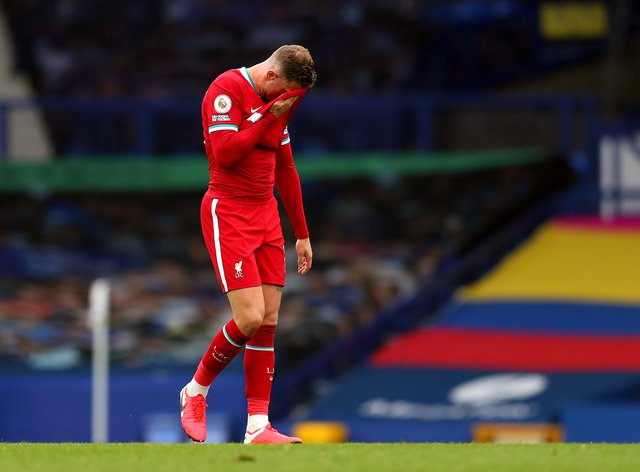 Liverpool captain Jordan Henderson will miss the visit of Leicester
