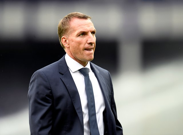 Brendan Rodgers insists he has given no thought to Leicester winning the Premier League title (Peter Powell/NMC Pool/PA)