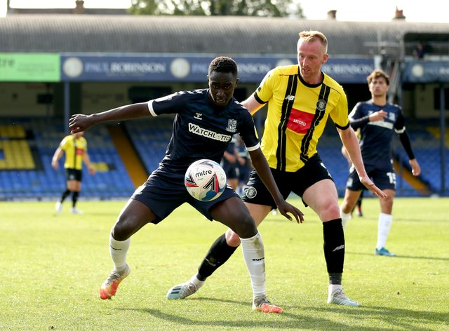 Elvis Bwomono, left, is available for Southend after international duty