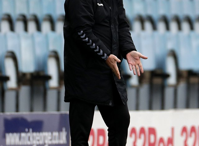 Mark Robins hopes Coventry can build on their clean sheet