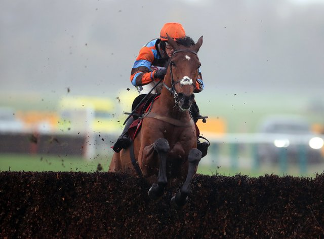 Master Tommytucker and Sam Twiston-Davies are out on their own en route to victory in the Back And Lay On Betfair Exchange Graduation Chase at Haydock (Mike Egerton/